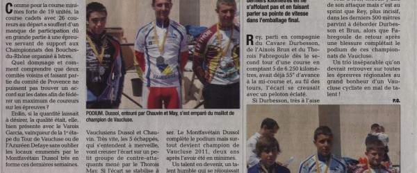 2011 05 16 championnat de vaucluse cadet